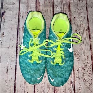 Nike Free 5.0 Sneakers Green Blue Size 7